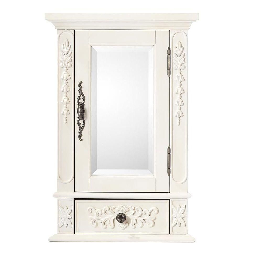Home Decorators Collection Winslow 17 In W Mirrored Wall Cabinet