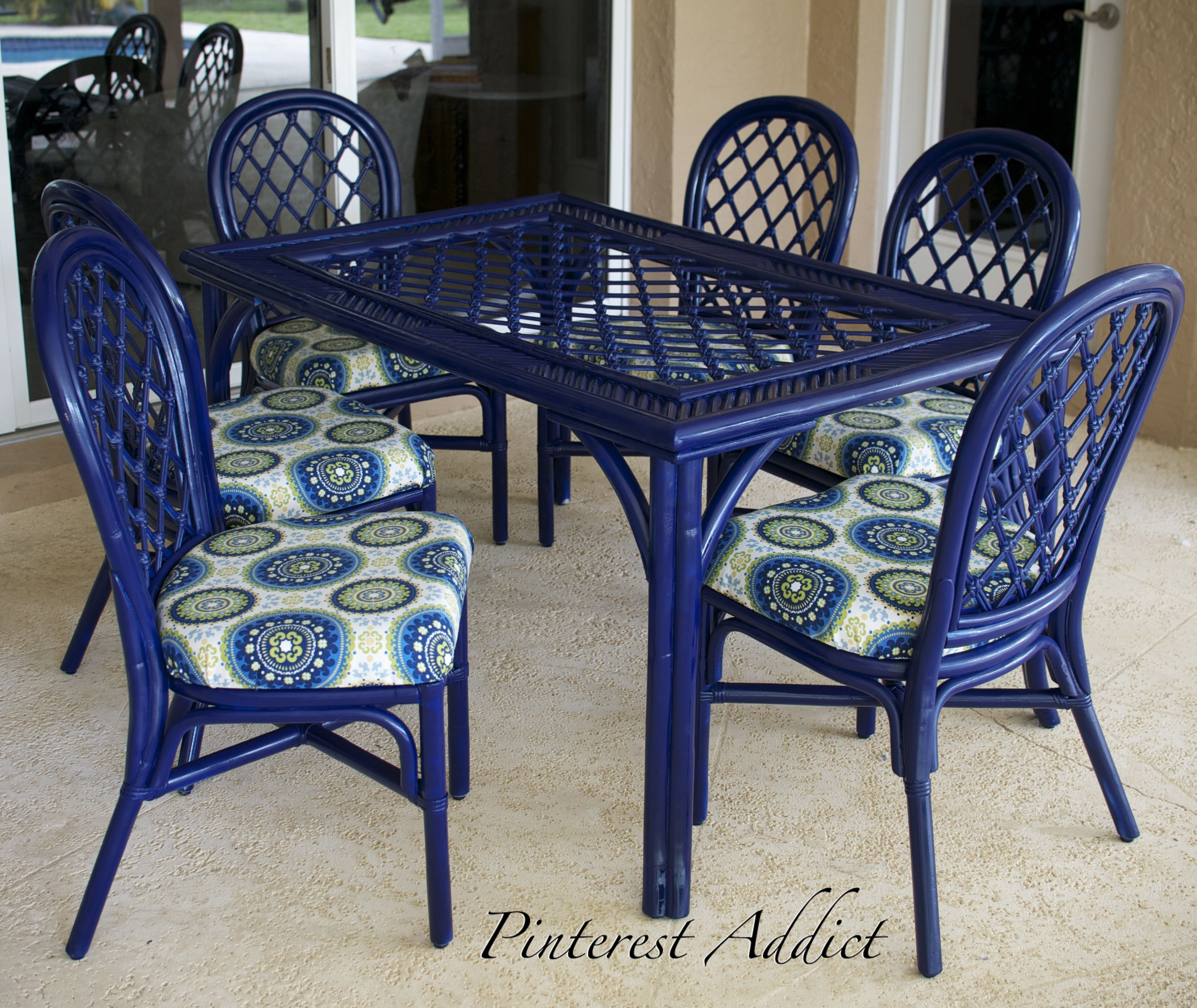 Painted iron patio furniture - Patio Furniture Re Do