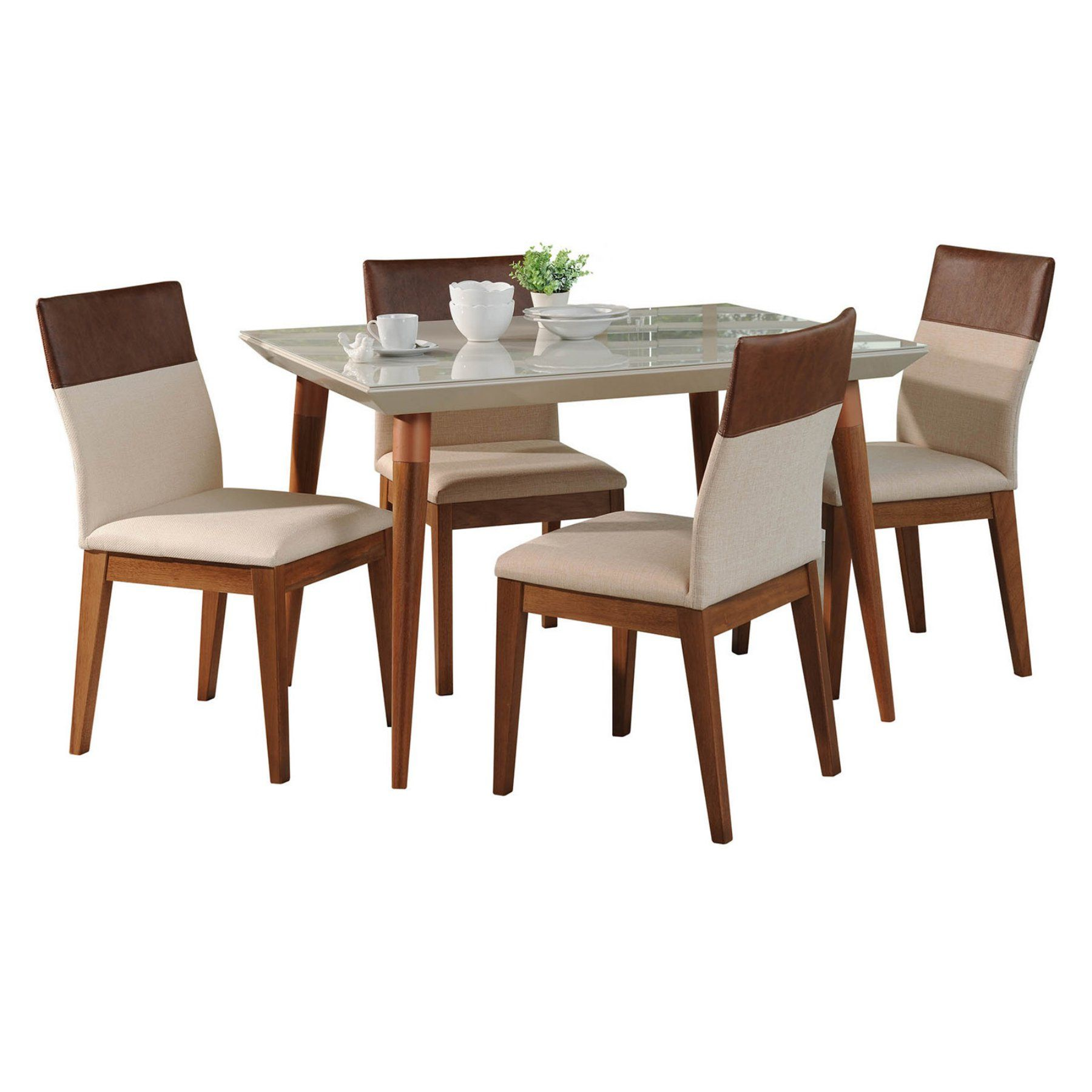 Magnificent Manhattan Comfort Utopia And Duke 5 Piece Dining Table Set Gmtry Best Dining Table And Chair Ideas Images Gmtryco