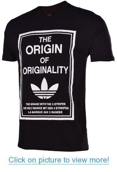 Adidas Originals Men's Origin of Originality Trefoil T-Shirt-Black #Adidas #Originals #Mens #Origin #Originality #Trefoil #T_Shirt_Black
