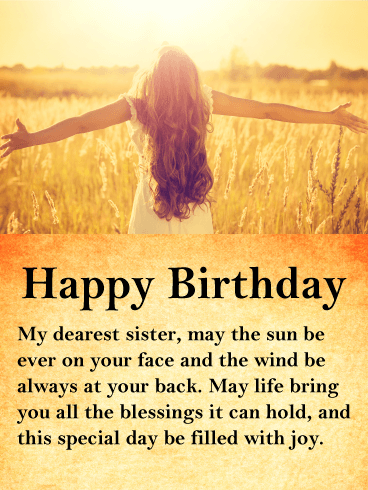 Wish Your Sister All The Blessings And Happiness This Life Has To Offer Especially On Her Birthday With T Birthday Messages For Sister Birthday Wishes For Sister Birthday Greetings For Women