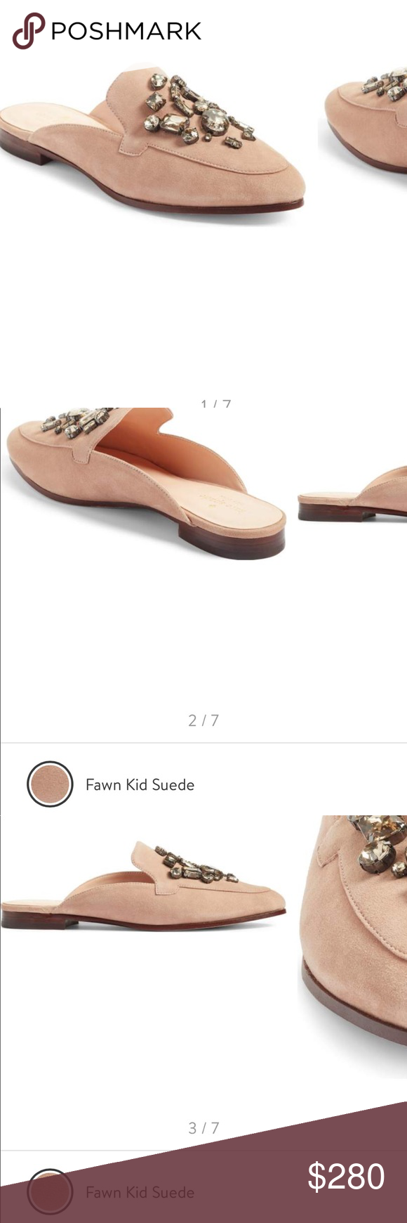 3cdb81b86f95 Kate spade cavell mule blush suede New in box. Selling at Nordstrom  currently for 278  plus tax. NO OFFERS. You also have the option of  🅿️ay🅿️al 270  ...