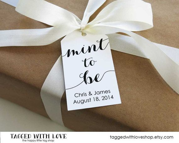 Mint To Be Wedding Favor Tags Large Size 36 Pieces 21 95