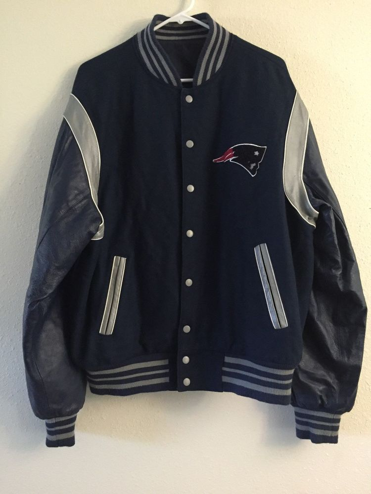29cc58f255c New England PATRIOTS 2 TIME SUPER BOWL Champions Leather Jacket XL  Reversible  NFL  NewEnglandPatriots