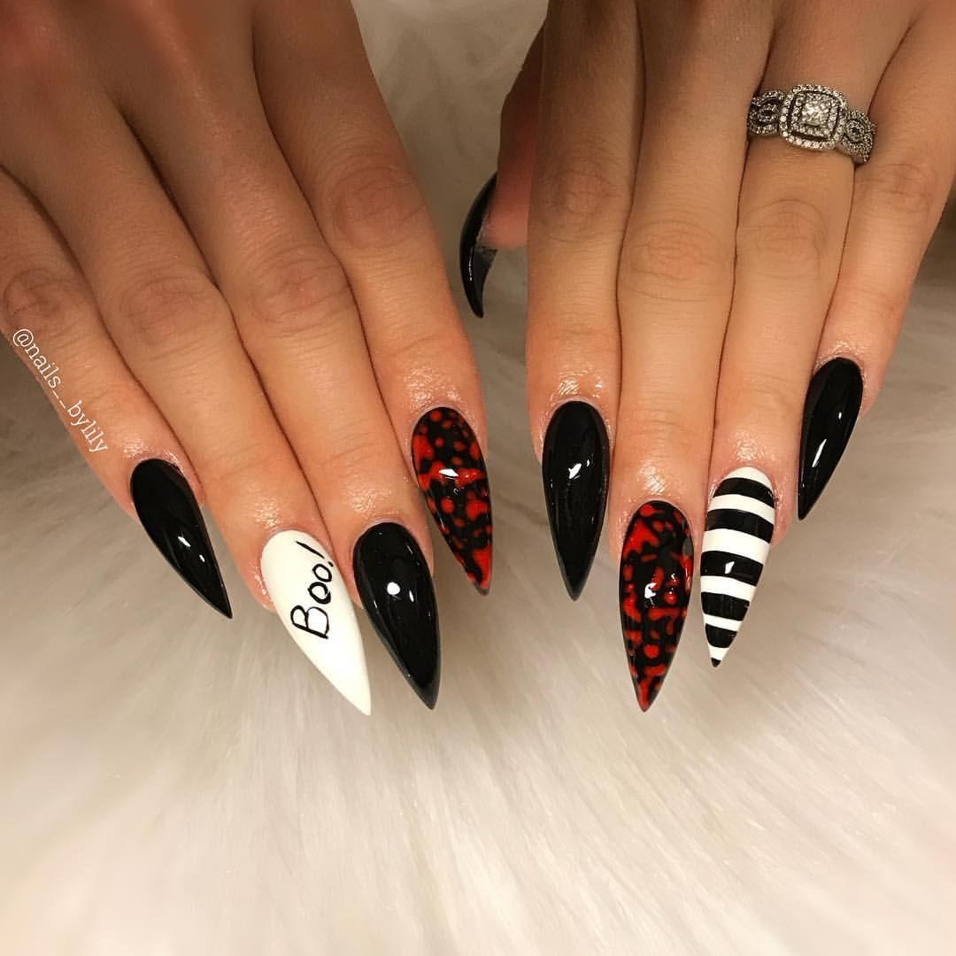 Claws for Halloween 👻 . . . . . . . . . . #stilettonails # ...