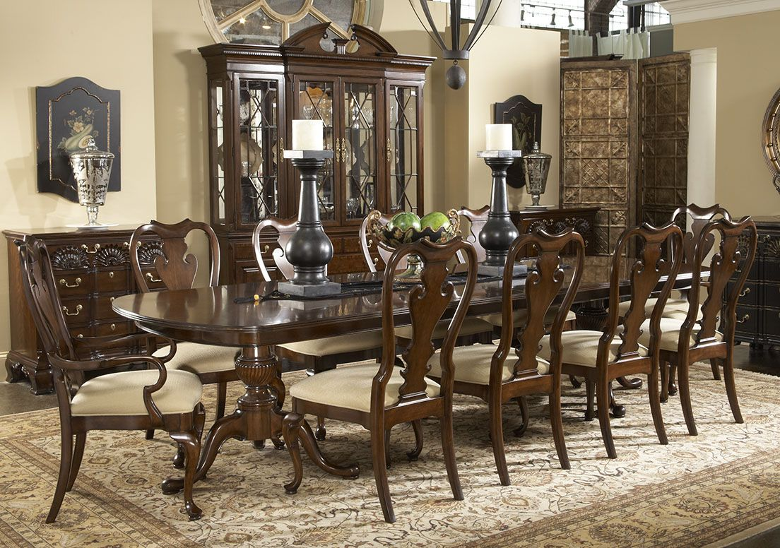 12 Chair Dining Room Table 12 Piece American Cherry Dining Table