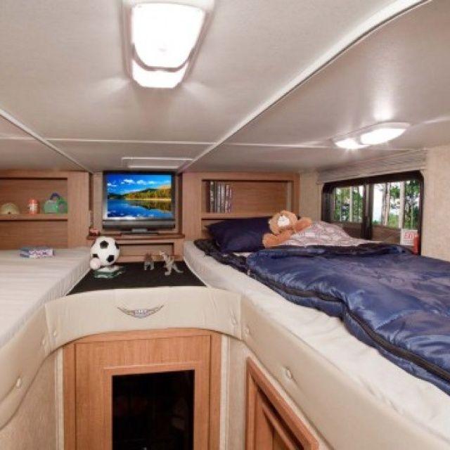 Class C Rv Remodel Bed Corner Google Search Motorhome Remodel Remodel Bedroom Bunk House