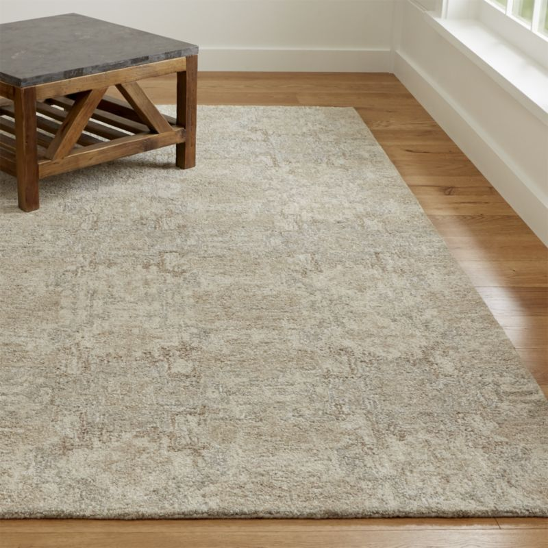 Alvarez Cream Hand Tufted Rug Crate And Barrel Hand Tufted Rugs Rugs Patterned Carpet