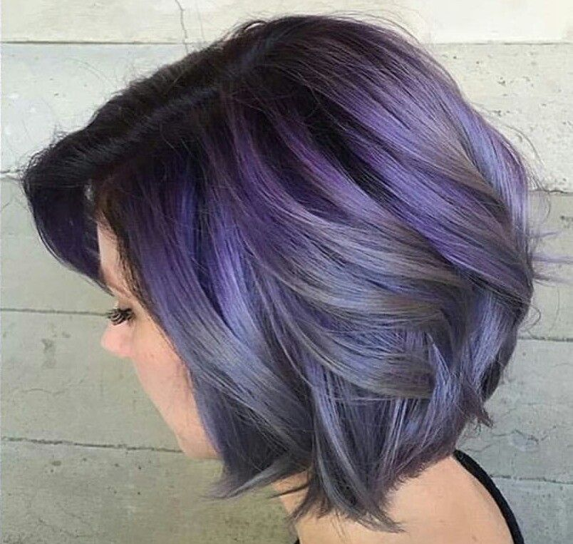 I Love This Color It Looks Like Fun Metal Blue Short Hair Color Hair Color Pastel Thick Hair Styles