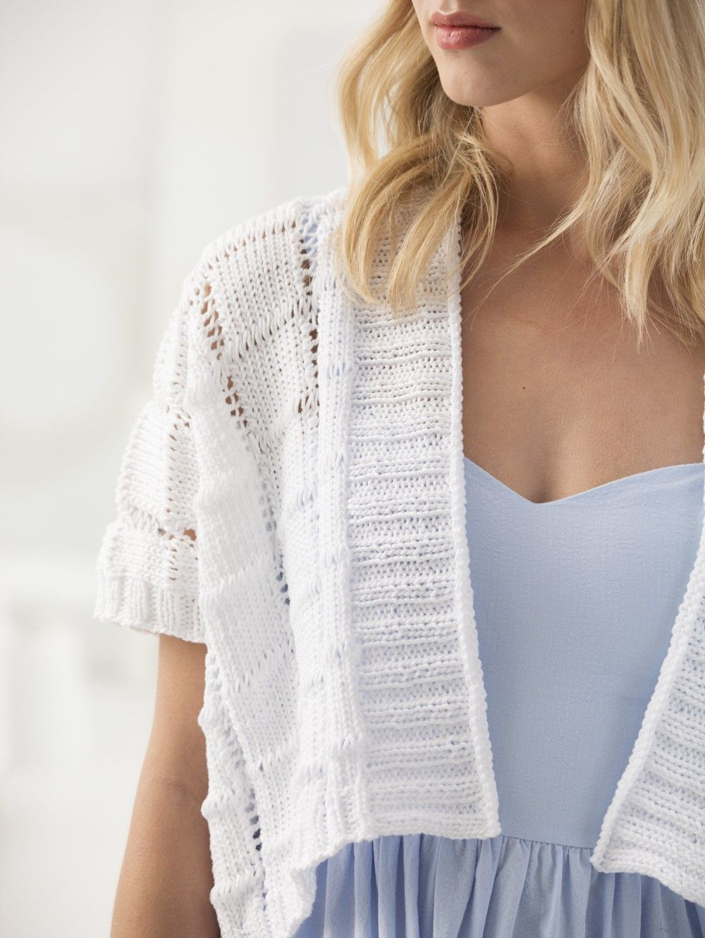 Cropped Kimono Cardigan (Knit) | Knitted Summer Pullovers, Tops ...