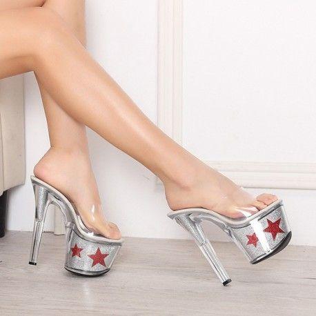 Sandals Slipper Big Size Shoes High Heels Pumps Stripper Slides Platform