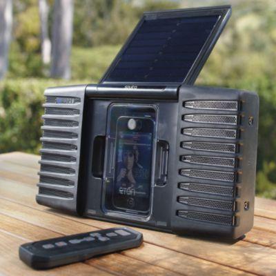 Soulra Solar Powered Ipod Speaker Ipod Speakers Solar Power