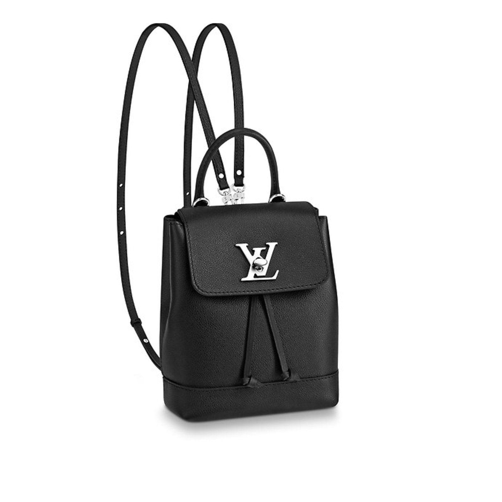 1593b6ea646a ... Womens Fashion par Joli Closet. Sacs à dos Louis Vuitton Mini sac à dos  Lockme Louis Vuitton Cuir Noir ref.