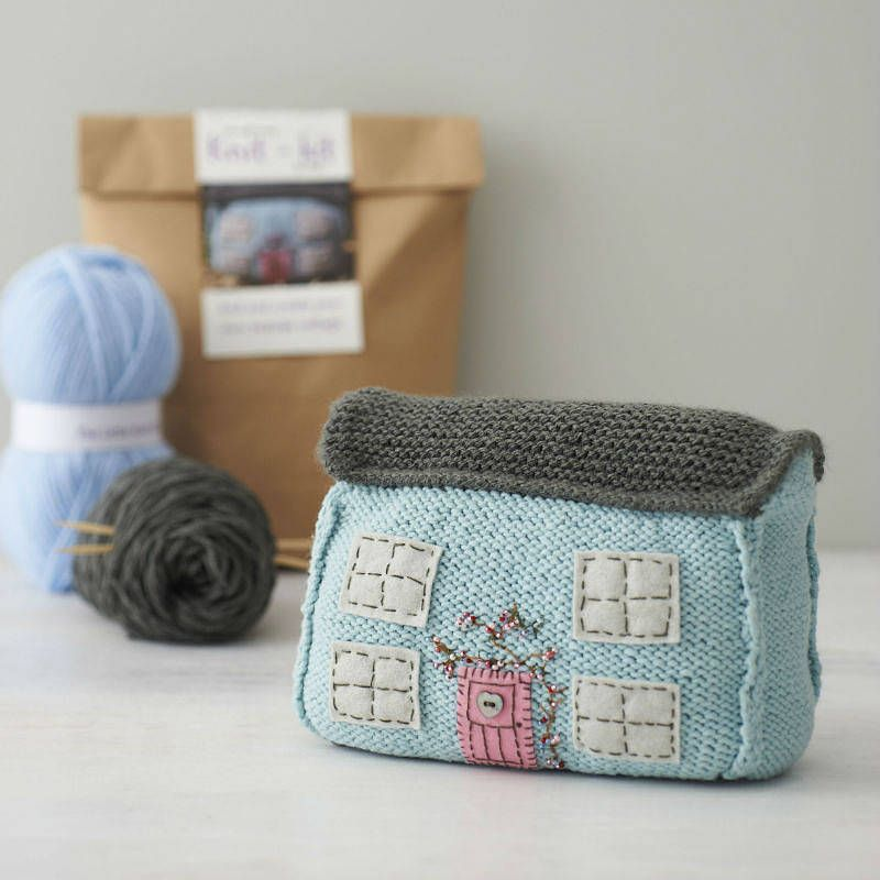 Such a cute idea to make!  seaside cottage starter knitting kit by the little knit kit company | notonthehighstreet.com