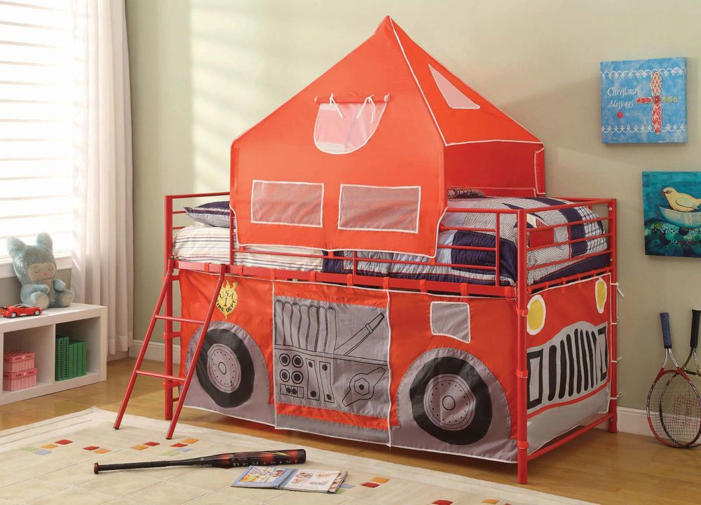 Fire Engine Bed Ladder Tent Red Boys Loft Fireman Sam