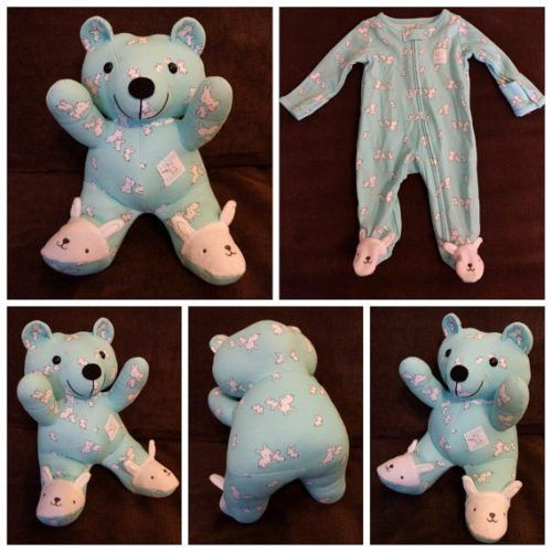 c0e2b885fa63 Here s How To Turn Your Baby s Clothes Into Keepsake  Memory Bears ...