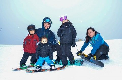 I couldn't have orchestrated a better family photo than the first time we snowboarded with our kids, ages 1, 6, and 9. I will show it to them whenever they are afraid to take a risk.