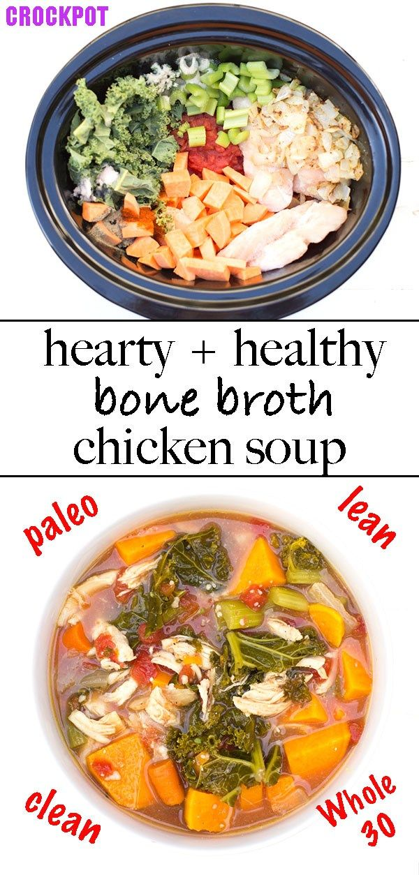 Chicken Bone Broth Soup Recipe | Kitchen of Eatin'