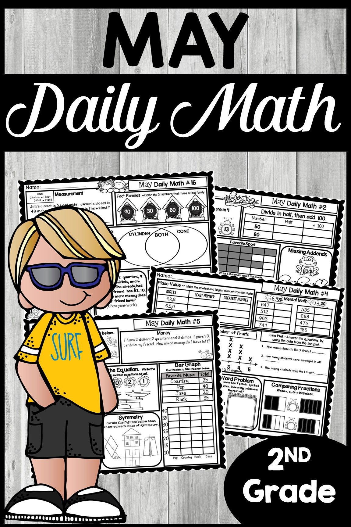 May Morning Work 2nd Grade | Daily Math | TpT Math Lessons | Daily
