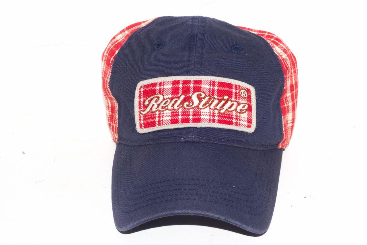 de66f21f0 Red Stripe Beer Plaid Trucker Cap Hat Don't EST 1928 Jamaica ...