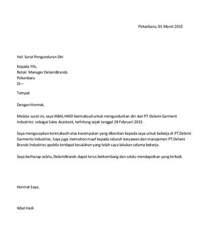 46+ Contoh surat pengunduran diri level manager terbaru terbaik