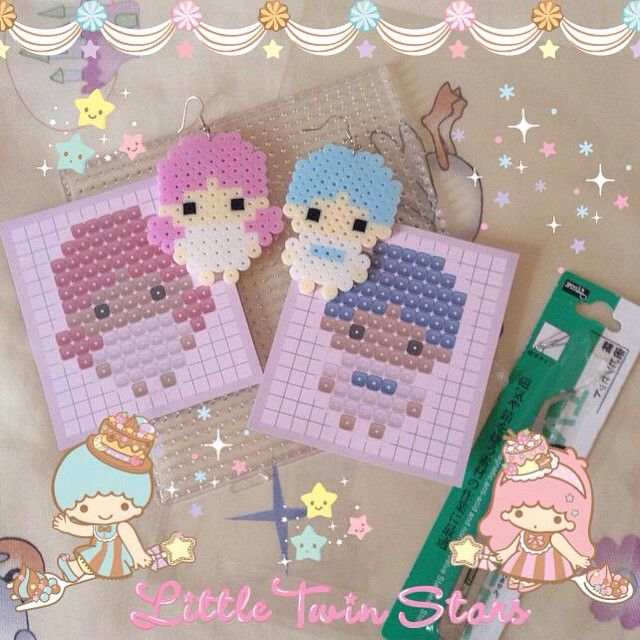 Little Twin Stars hama perler beads by Bepplers
