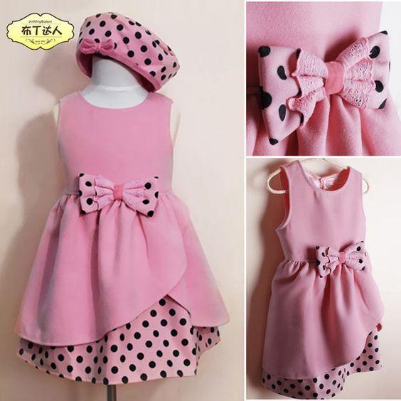 Resultado De Imagen Para Como Hacer Un Lazo De Tela Para Un Vestido Baby Girl Dresses Kids Frocks Kids Outfits