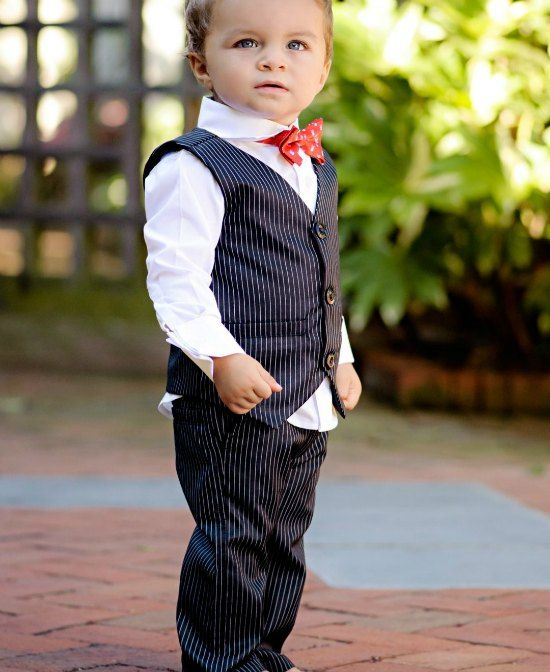 Pinstripe Vest & Pants Set from The Couture Baby | Boys Clothing ...