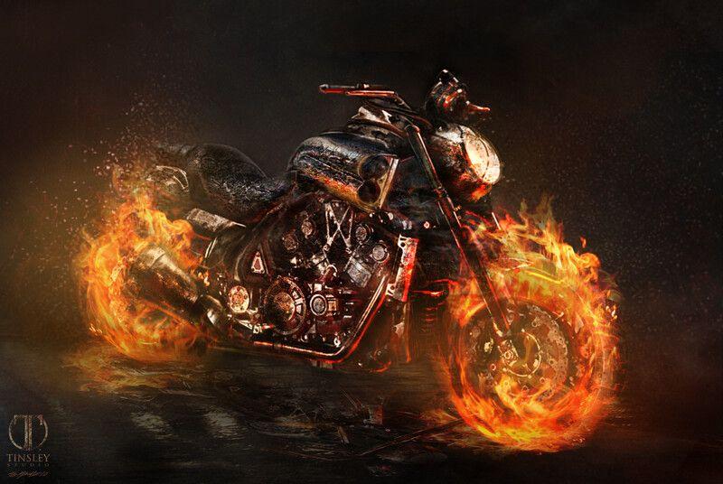 TUTO Concept Art photorealiste pour un jeu video AAA avec ...  |Ghost Rider Digital Painting Photoshop