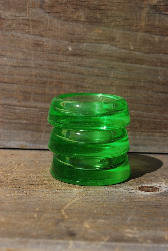 Anchor Hocking Vaseline Glass Furniture Coasters by Psychedelphia