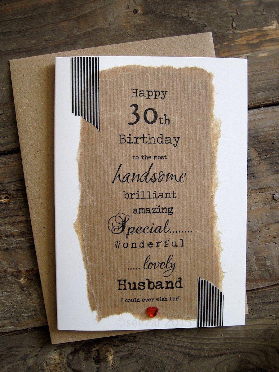 30th 40th 50th Birthday Card For Husband Boyfriend Wife Etsy Husband Birthday Card 50th Birthday Cards Birthday Cards