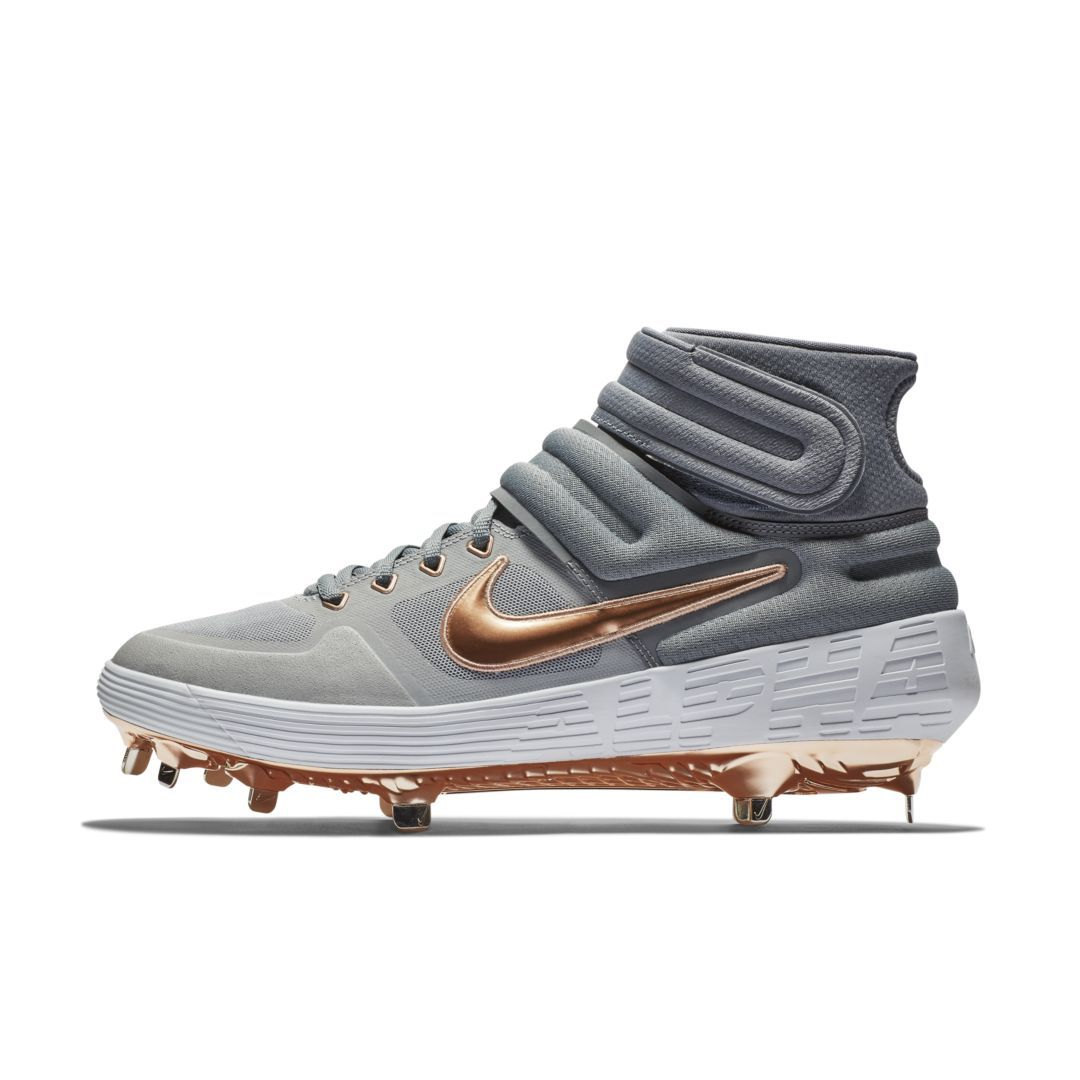 Nike Alpha Huarache Elite 2 Mid Baseball Cleat Size 10.5 (Wolf Grey) 38a9885b9