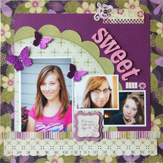 Simple Wedding Family Pictures: Scrapbooking - 1 Page, Multi Photo, Person