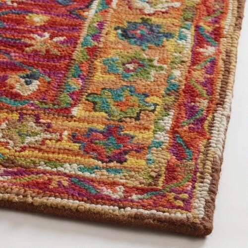 Zahra Caravan Tufted Wool Area Rug Wool Area Rugs