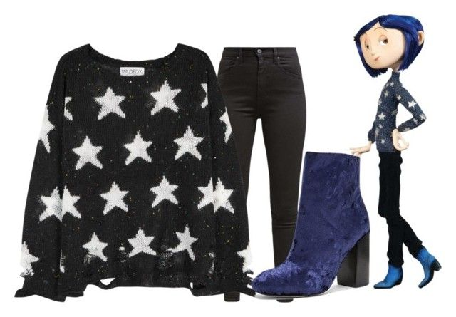 """""""Coraline #1"""" by princessmikyrah ❤ liked on Polyvore featuring Levi's, Wildfox and Rebecca Minkoff"""