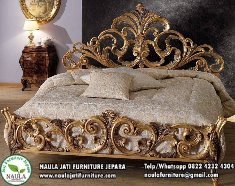 Tempat Tidur Mewah Luxury Klasik Emas Ukir Jati Jepara Terbaru 2018 Set Kamar Tidur Mewah H Adalah Keyword Yang Ba Baroque Furniture Furniture Gold Furniture