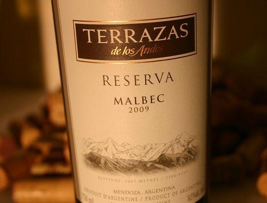 Terrazas De Los Andes Reserva Malbec Argentine Mendoza