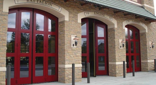 metro garage doorCharlotte1 Fire Station Metro Garage Door  Commercial Garage Door