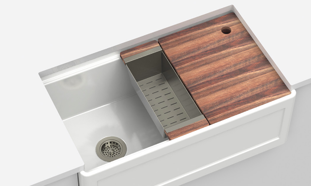Fira Fireclay Kitchen Sink with Accessory Ledge in 2020