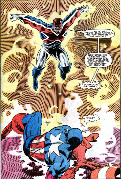 Image result for captain america vs captain britain