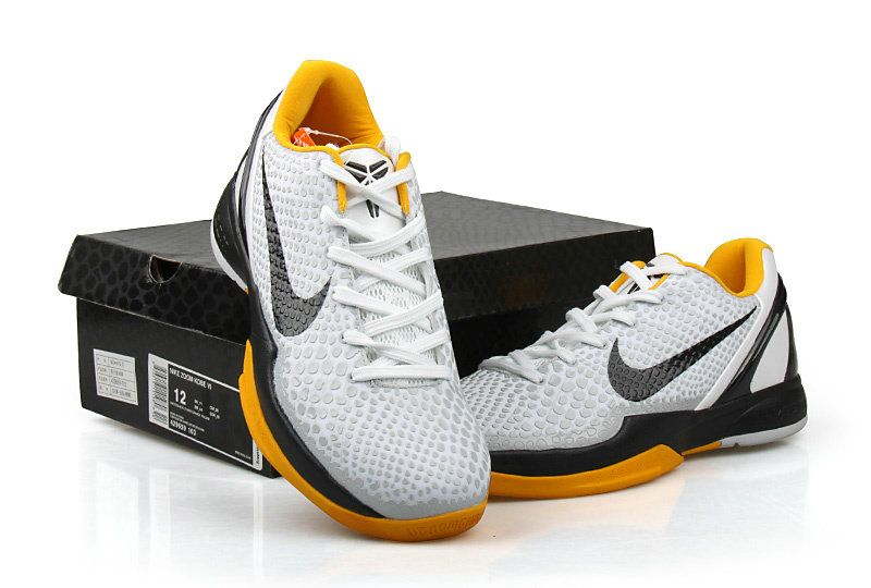 brand new 0797e b0f1d ... authentic nike zoom kobe vi men grey white yellow 97a31 3d3a0