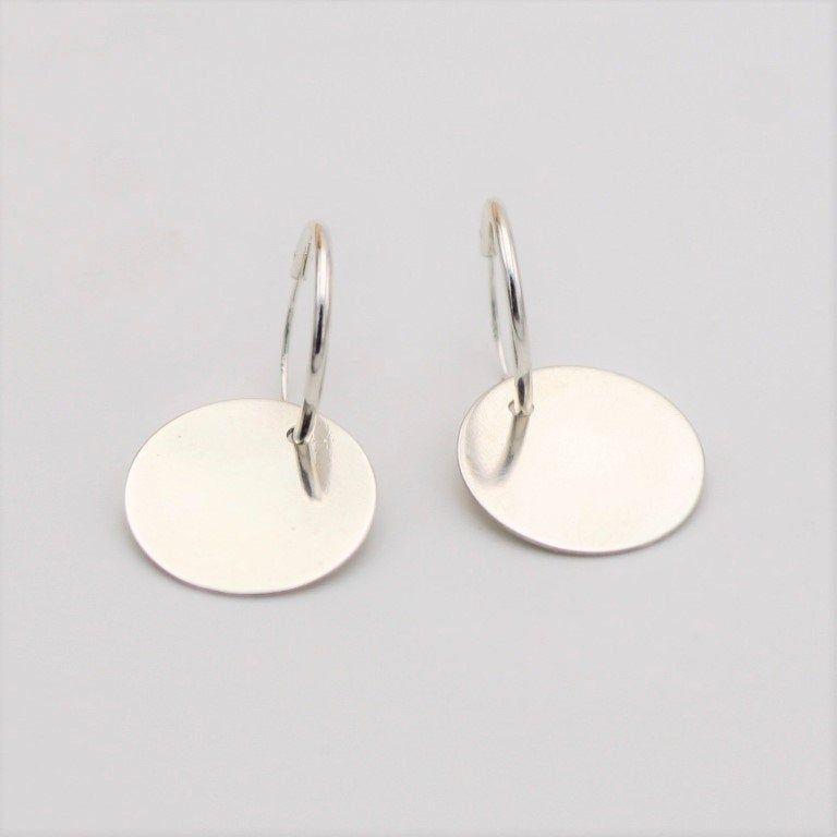 Ss 6Mm Oval Hoop Ear//Full Dia Cut Hoop Earrings