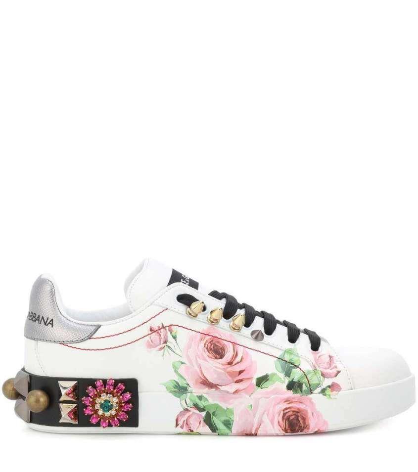 Sneakers Primavera Estate 2018 Sneakers a fiori Dolce