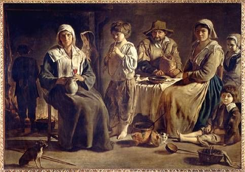 Louis Le Nain - paints low life peasant life. Farmers. hard workers