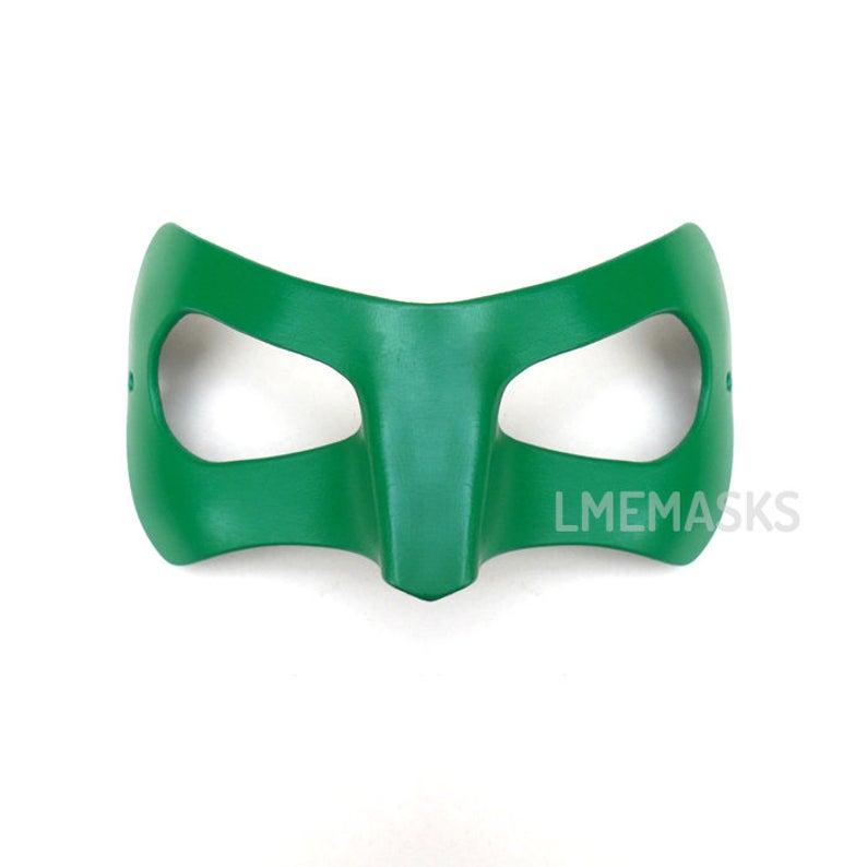 Green Lantern Leather Mask Cosplay Ryan Reynolds Film 2011 Hal Etsy