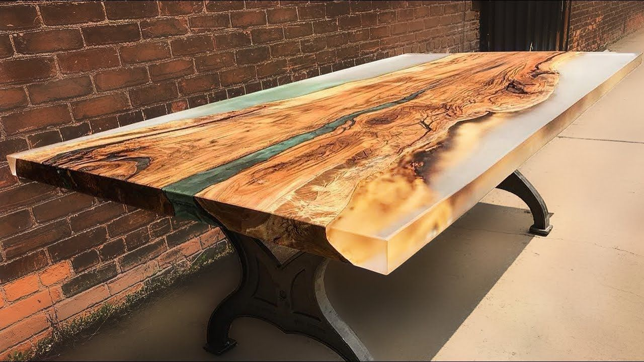 10 amazing epoxy resin and wooden river table awesome for Diy river table