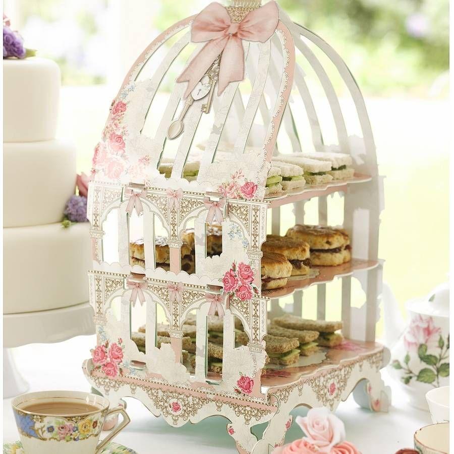 English Rose Birdcage Style Cupcake Stand | Cupcake stands, Cupcake ...