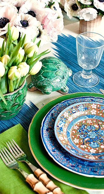 colorful place setting....