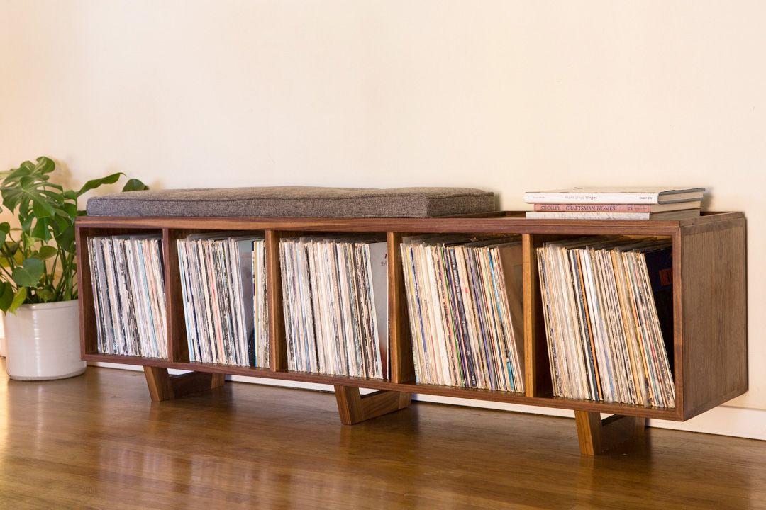 vinyl record storage furniture. PETER DEEBLE | VINYL LP STORAGE BENCH Vinyl Record Storage Furniture Y