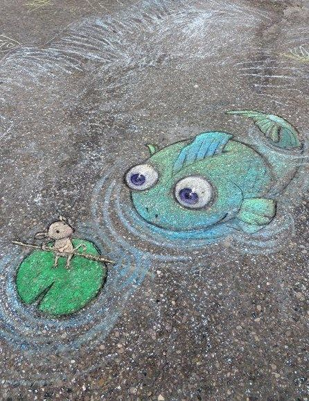 Walkie Chalk Gives You The Perfect Opportunity To Unleash Your - David zinns 3d chalk art adorably creative
